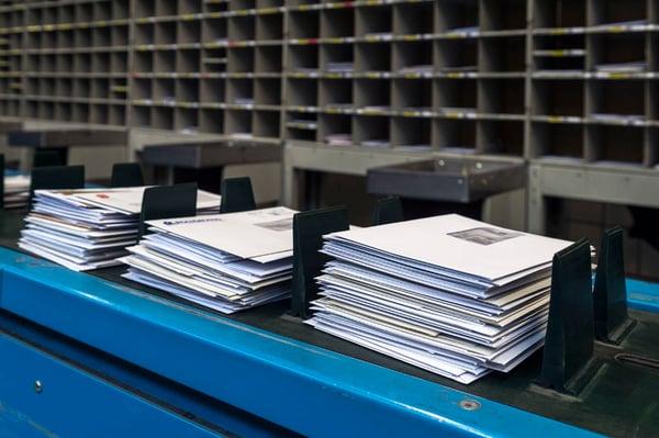 Asendia sorting mail